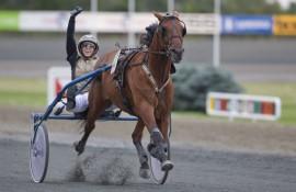 Tar Martine Sørviks French Destiny  årets tredje seier i Sverige (foto: hesteguiden.com)