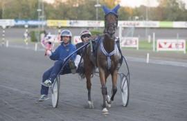 Sigbjørn Kolnes tar turen til Karlstad med vinnerhesten Speedy Gon Sali (foto: hesteguiden.com)