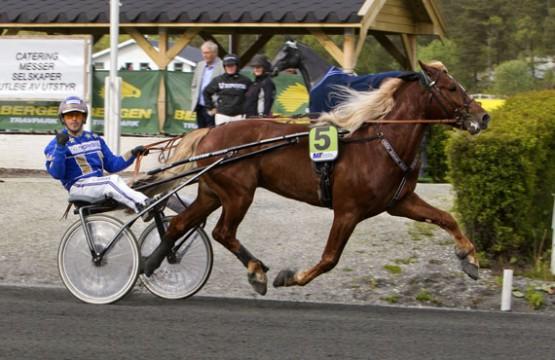 Teddy Gutten Støen og Tom Erik Solberg skal sammen med en rekke andre norske hester kjempe om 300.000 kroner i Unionskampen lørdag (foto: hesteguiden.com)