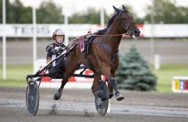 Varennes Image og Erlend Rennesvik vant helenkelt i sin siste start på Bjerke (foto: hesteguiden.com)