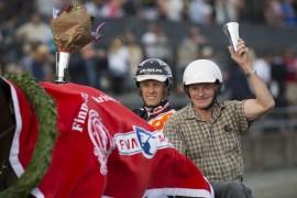 Selvom Lannem Silje er utrolig god skal også de to ringrevene Tor Wollebæk og Ola M.  Skrugstad ha sin del av æren (foto: hesteguiden.com)
