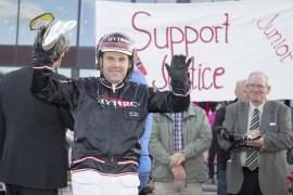 Geir Vegard Gundersen har hele trav-norge bak seg på vei til Prix d'Amèrique – dagens løp er kun en formalitet for Support Justice (begge foto: hesteguiden.com)