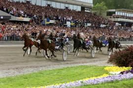 Det er dags for herlig travsport for tusenvis av fans to dager til ende på Valla (foto: hesteguiden.com)
