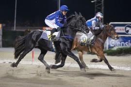 Blir det en ny duell mellom Grundsvold Loke/Johanne Ulrica Øveraasen og Finnskog Fokus/Louise V. Trudvang i V76-3 på onsdag? (foto: hesteguiden.com)