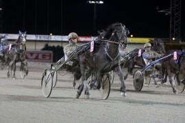 Gunda avsluttet fjoråret på beste vis – fra svingen og inn rundet hun hele feltet på enkleste vis til overlegen V75-seier på Bjerke (foto: hesteguiden.com)