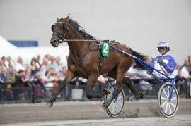Ingemar Palema og Vidar Hop står forlokkende til i andrespor på Bjerke i kveld (foto: hesteguiden.com)